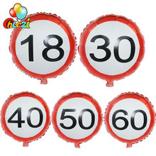 5 adet/grup 18 30 40 50 60th doğum günü partisi dekorasyon helyum balonları yıldönümü günü alüminyum Film balon parti duş Globos