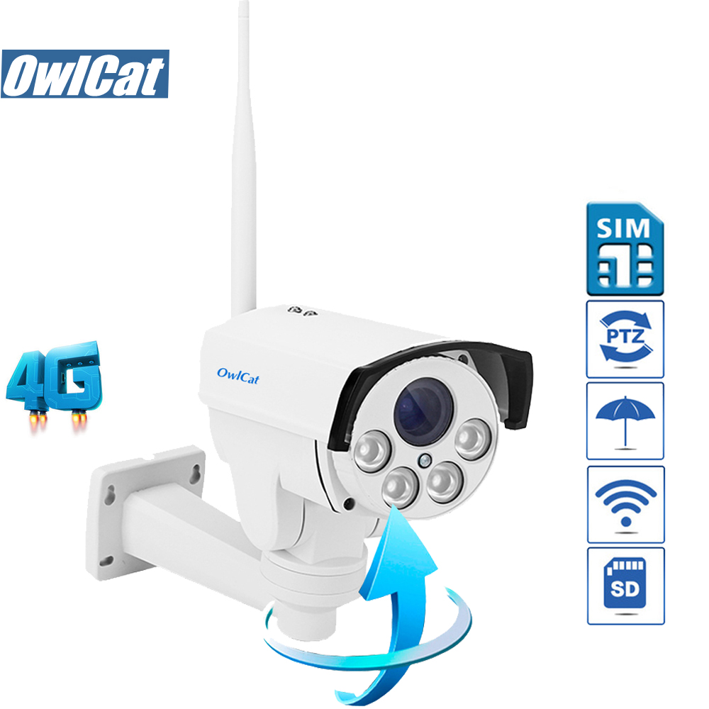 OwlCat HD 1080 P 960 P חיצוני Bullet PTZ IP מצלמה WIFI 5X - בטיחות וביטחון