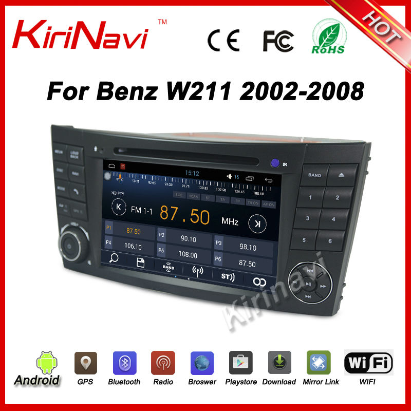 Kirinavi 2 Din Android 7.1 for Mercedes for Benz Clk W209 2005 2006 W211 (02 06) Car Dvd multimedia Player Gps navigation