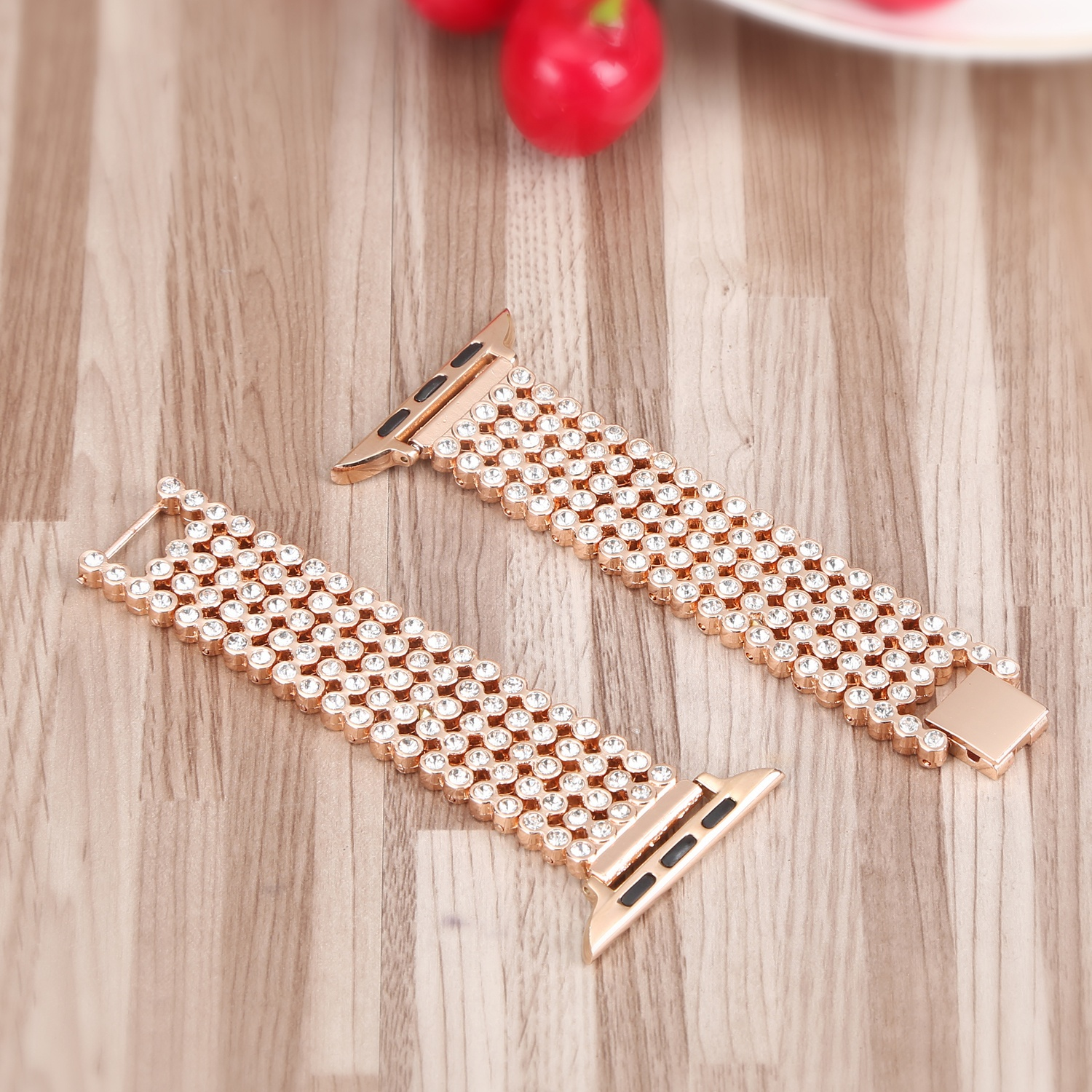 Image 5 - Crystal Diamond strap for Apple Watch band 38mm 42mm 40mm 44mm stainless steel Replacement Bands for iWatch series 5 4 3 2 1strap for apple watchreplacement strapstrap for -