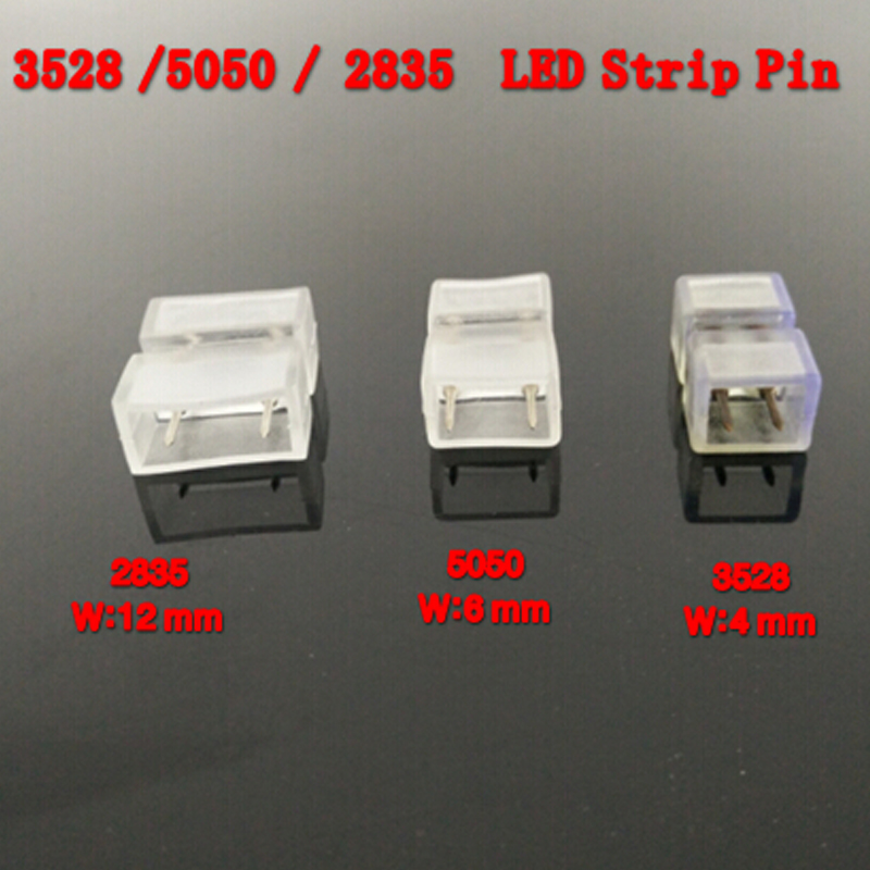 110V 220V <font><b>LED</b></font> Strip 2 pin for <font><b>SMD</b></font> 5050 5630 3014 (6mm) 3528 (<font><b>4mm</b></font>) 2835(12mm) <font><b>LED</b></font> Strip Accessory Special pin image
