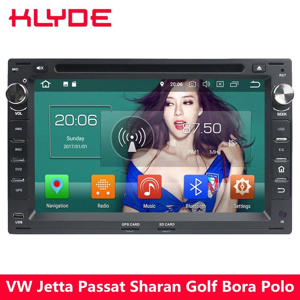 KLYDE 4G Android 8 Octa Core 4 GB + 32 GB voiture lecteur DVD multimédia Radio pour Volkswagen Jetta Lupo Sharan Golf Bora Polo Passat B5
