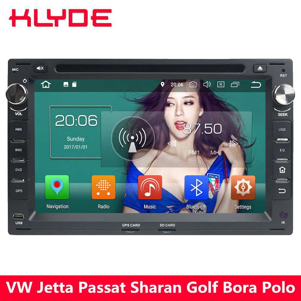 KLYDE 4G Android 8 Octa Core 4GB 32GB Car DVD Multimedia Player Radio For Volkswagen Jetta