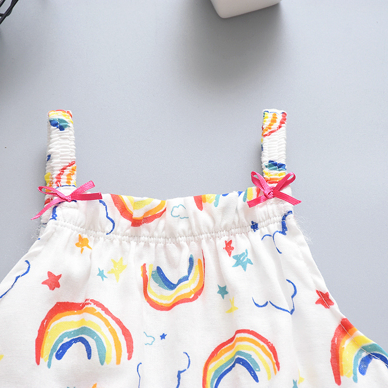 Baby Clothes Summer Toddler Infant Newborn Baby Girls Boys Romper Sleeveless Cartoon Animal Jumpsuits Sunsuit Playsuit in Rompers from Mother Kids