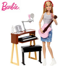 Original Brand All Joints Move Barbie Musician Doll & Playset Of toys for girls A Birthday Present Girl Toys Gift Boneca FCP73 ever after doll 9 5 inch high quality toys apple white raven quee joint 11 joints birthday gift for barbie accessories diy doll