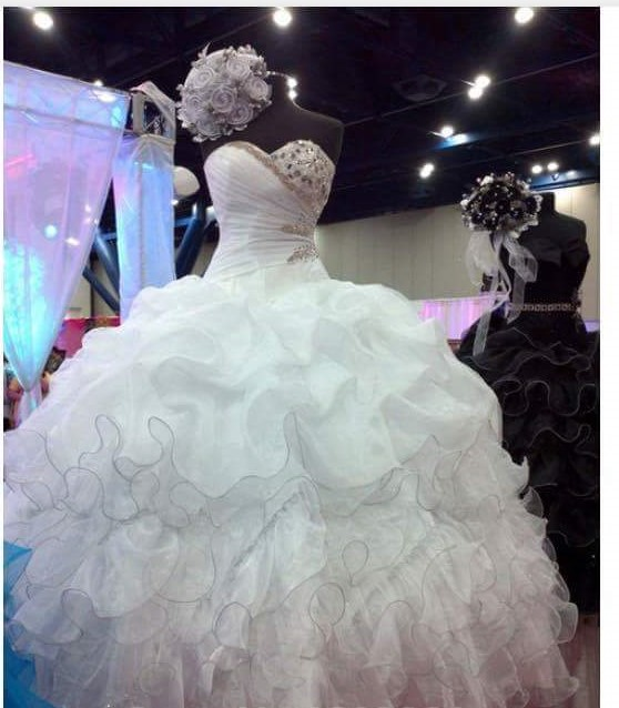 Freeshipping New Arrival Gorgeous Puffy Ball Gown Bridal Wedding Dresses