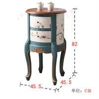 Простой американский шкафчики принять чайный столик пастырской живописи края несколько углов Средиземноморский диван телефон маленький с...