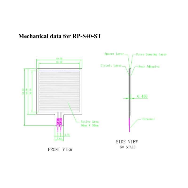 Assento alto esperto 20g-10kg do sensor RP-S40-ST