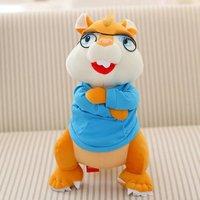 Film i TELEWIZJA myszy zabawki-piękne Zabawki duże pluszowe niebieskiej tkaniny Simon lalki około 32 cm