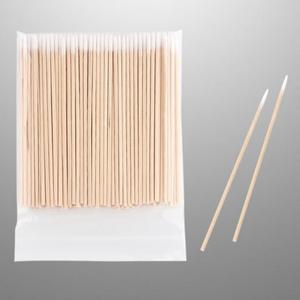 300pcs Wood Cotton Swab Eyelash Extension Tools Medical Ear Care Wood Sticks Cosmetic Cotton Swab Cotton Buds Tip