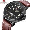 Top de Luxo Da Marca Homens Esporte Relógio de Quartzo Hour Data Relógio NAVIFORCE Militar Homens de Couro À Prova D' Água Relógio de Pulso Relogio masculino