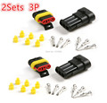 Hot 2/10 Sets 3P Way Sealed Waterproof Car Electrical Wire automotive Connector Plug Kit for car motorcycle