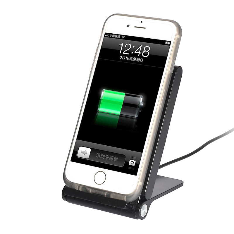 Hot sale three coil wireless charging pad with indicator fast QI slim wireless charger cradle Wireless single launch charger
