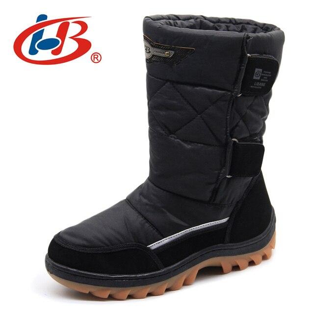 Libang 2017 брендовая мужская зимняя обувь теплые мужские зимние сапоги Снегоступы зимняя обувь для Для мужчин модные мягкие Мужская обувь Большой размер 41-46