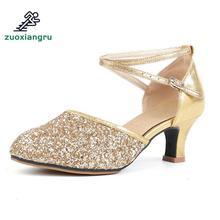 Купить с кэшбэком Zuoxiangru New High-heeled Lady Latin Dance Shoes Women's Ballroom Tango Dancing Shoes For Ladies