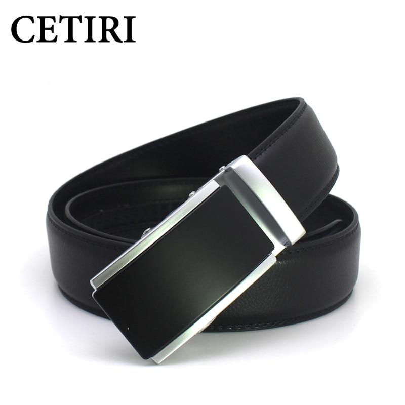 367a0f7db3 CETIRI correias dos homens de luxo cintos de grife homens de alta qualidade  catraca clique automático da correia de couro genuíno para jeans ceinture  homme ...