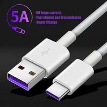 Kabel USB typu C do Huawei Samsung S10 S9 5A szybki kabel ładujący USB typu C kabel danych do Redmi Note 8 Pro USB-C przewód Cabo tanie tanio XCEOENM TYPE-C CN (pochodzenie) USB A