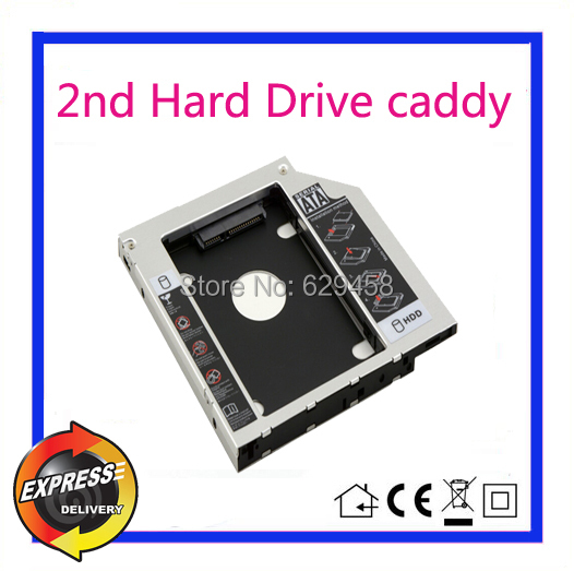 2nd SATA HDD Hard Disk Drive caddy Adapter for HP ProBook 440 G1 455 470 G0 / G1 dvd Free Shipping 146gb sas hdd for hp server hard disk 504062 b21 504334 001