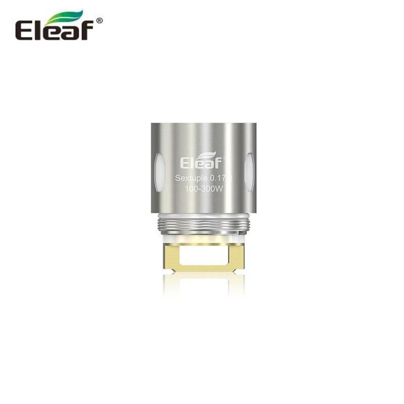 eleaf es sextuple 0 17ohm head replacement coil evaporator support 100 300w mod vape for eleaf