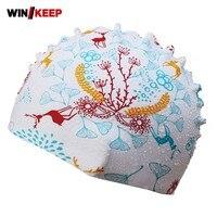 Sommer Unisex 3D Floral Bedruckte Gehörschutz Badekappe Elasitc Wasserdichte Badebekleidung Für Langes Haar Piscine Sportbekleidung Caps