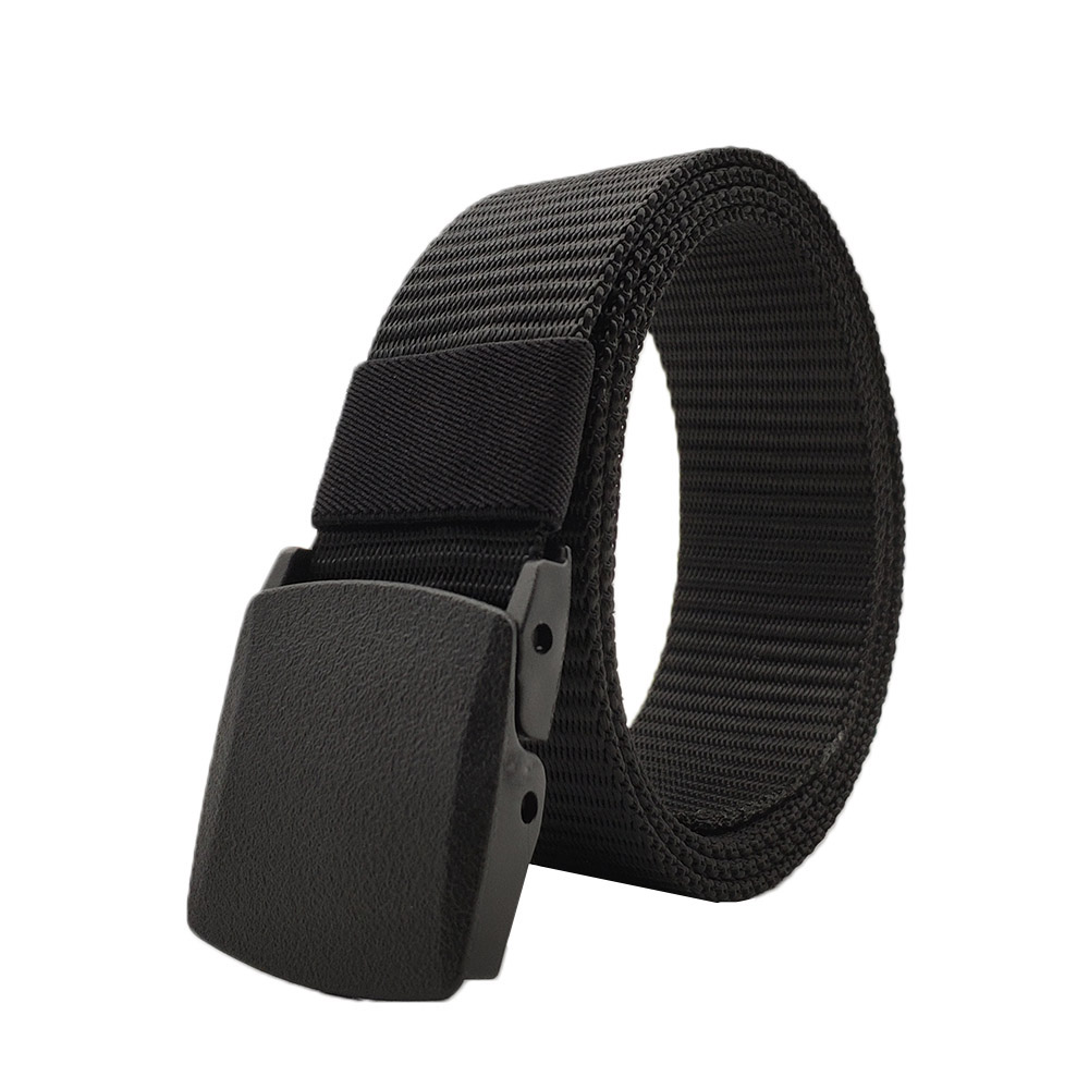 Automatic Buckle Nylon Adjustable Belt Male Army Tactical Belt Mens Military Waist Smooth Canvas Belts For Jeans hombre Camping