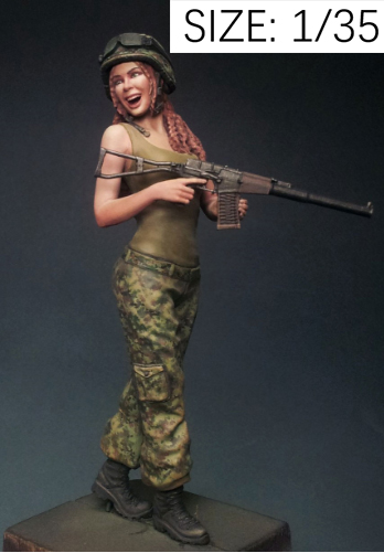 1/35 Russian Merry Girl Soldier    Toy Resin Model Miniature Kit Unassembly Unpainted