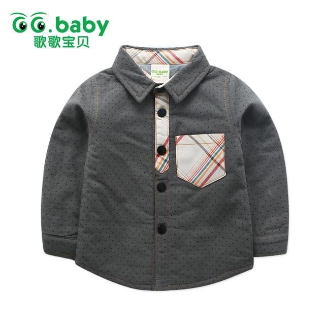 Dot Boy Shirts Girl Shirt Turn-Down Collar Toddler Blouses Long Sleeve Baby Shirt For Kids Clothes Boys Blouse Girls Children