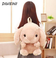 1 Pcs Set Kawaii Rabbit Plush Backpack Cute Plush Rabbit Backpack Stuffed Plush Rabbit Kids Toy
