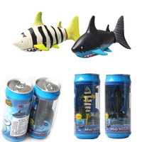 Coke Can Radio RC Mini ELECTRIC Electronic Shark Fish Boat Kids Toy Submarine