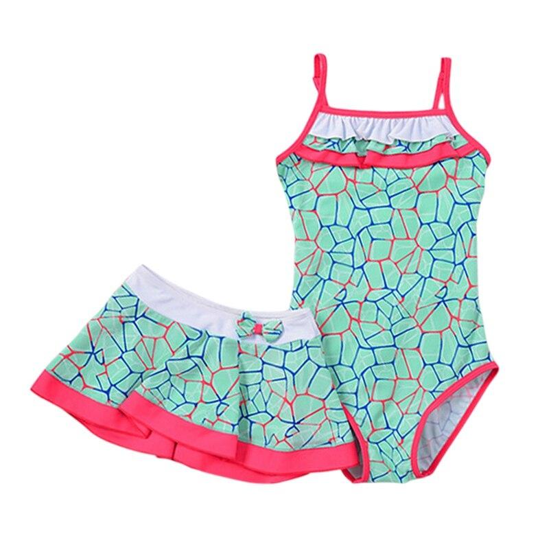 Praia menina Swimwear Maiô de Natação Roupas de Verão 2019 Crianças Bebê Macio Triangular Mangas Maiô para 1-15T criança