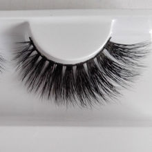1 pair 3D mink eyelash 100% real mink fur Handmade crossing Winged eye lashes soft False Eyelash B10