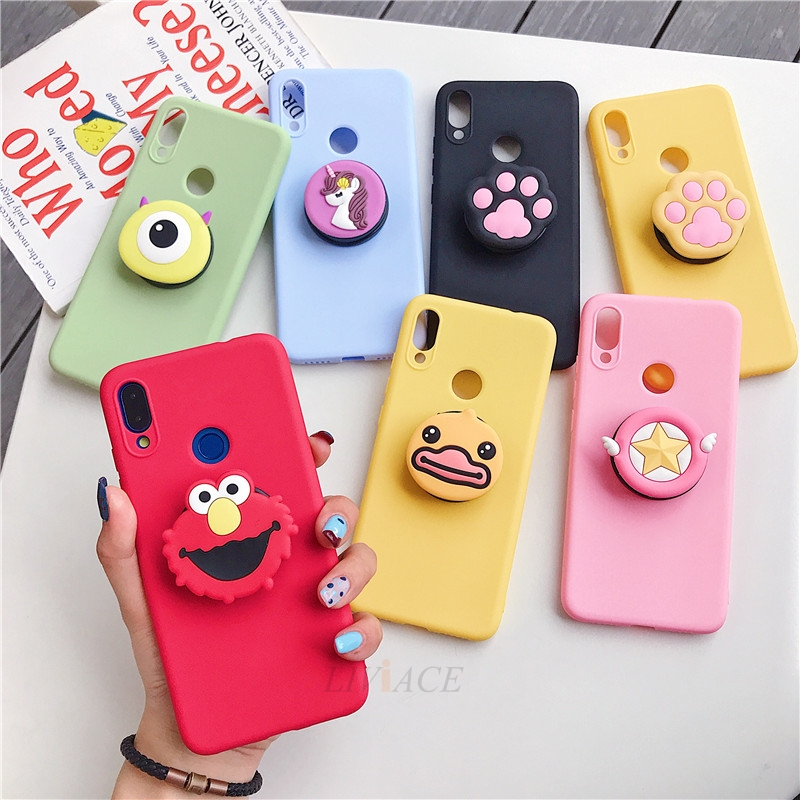 3D Cartoon Silicone Phone Standing Case for Xiaomi And Redmi Phones 1