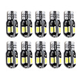 10Pcs T10 LED 8SMD 5730 CAR DOME 194 168 W5W DC 12V CANBUS OBC ERRO FREE XENON  LIGHT LICENSE PLATE LIGHT INDICATOR READING LAMP