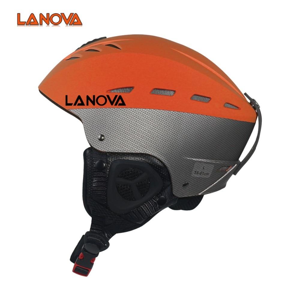 цена на LANOVA sport ski helmet adult ski helmet man skating / skateboard helmet multicolor snow sports helmets