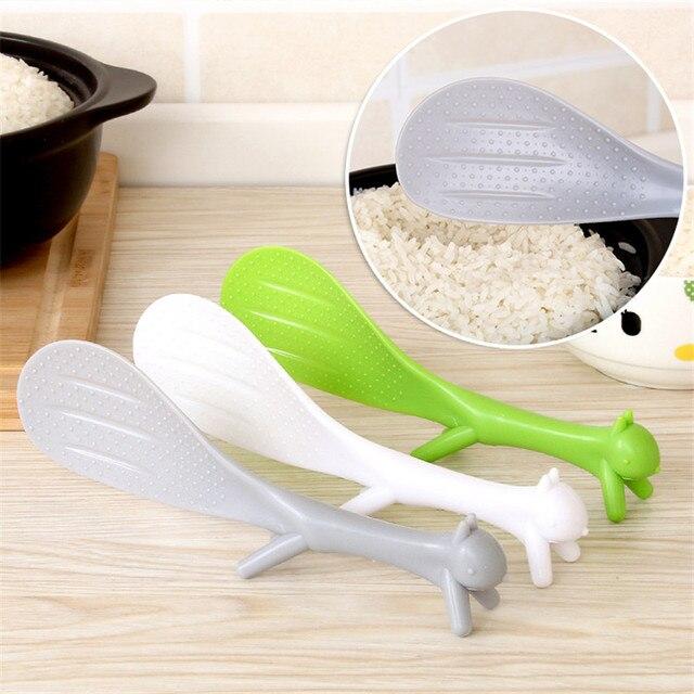 1 Pz Accessori Per la Cucina di Plastica Bello Scoiattolo Cucchiaio di Riso per