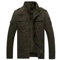Black Army Khaki 3 colors Plus Size 6XL High Quality Winter Warm Men Bomber Jackets Military Jackets