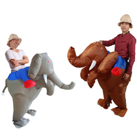 Christmas Costume For Adult Inflatable Elephant Costume Halloween Purim Blow Up Animal Fancy Dress Unisex Novelty