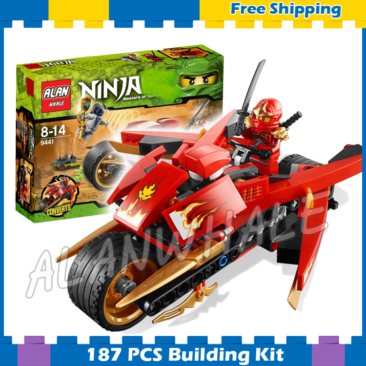 187pcs Bela 9754 NinjaKais Blade Cycl Building Blocks Classic Bricks toys Ninja Kay ZX Compatible With lego