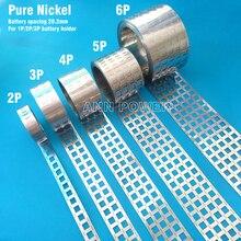 1 mètre nickel pur onglet 18650 li ion batterie nickel bande, espacement des cellules 20.2mm, batterie Ni ceinture, EV batteries barre omnibus nickel bande