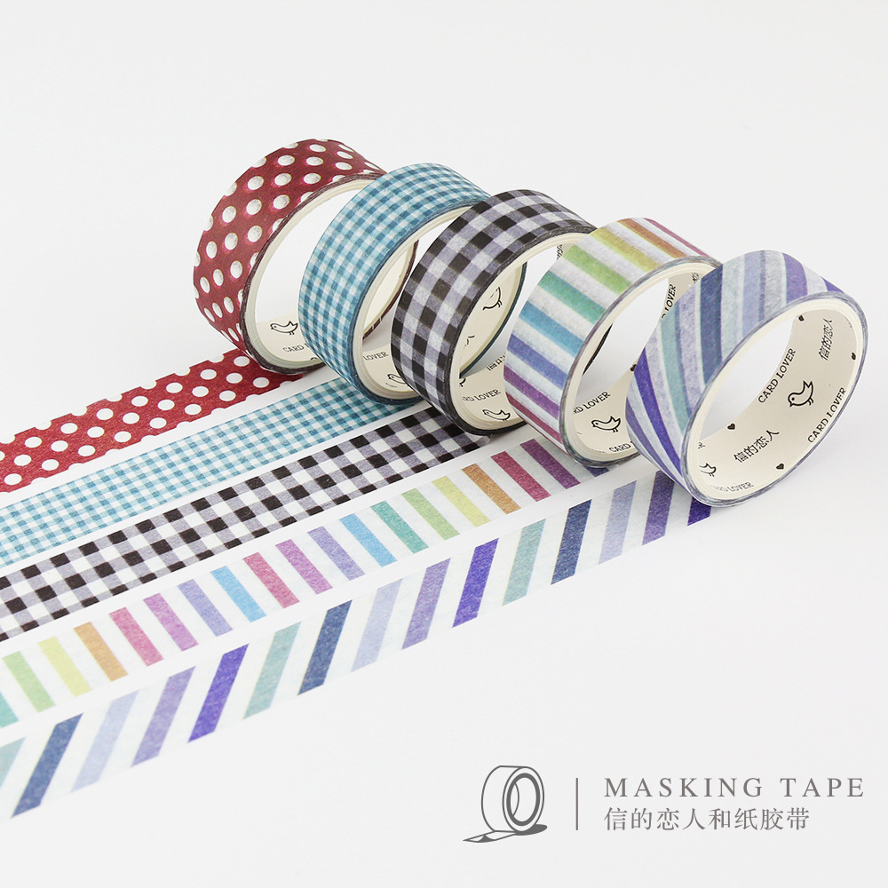 5 pcs box Cloth texture font b Tartan b font washi tape DIY decorative scrapbook masking