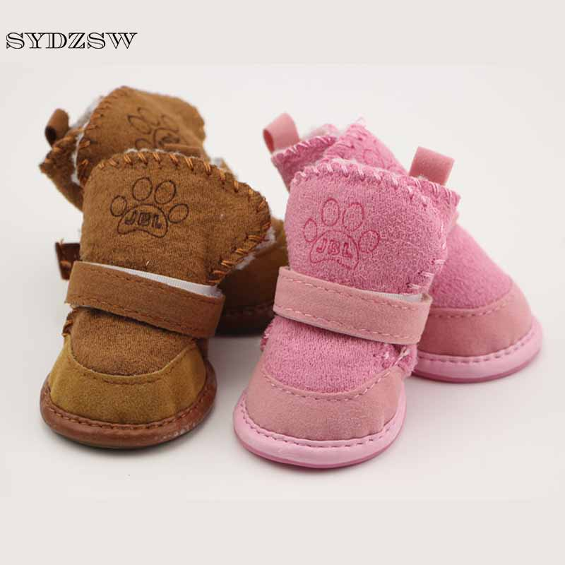 SYDZSW Classic Pet Shoes for Dogs Cats Winter Small Dog Anti slip Boots Yorkshire Snow Boots Chihuahua Supplies Pet Products