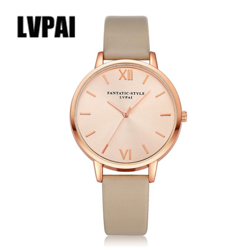 LVPAI Top Brand Women Watch PU Leather Strap Analog Quartz Watch Woman Clock Ladies Vogue Wrist Watches Montre Reloj Relogio #Z sunward relogio masculino saat clock women men retro design leather band analog alloy quartz wrist watches horloge2017