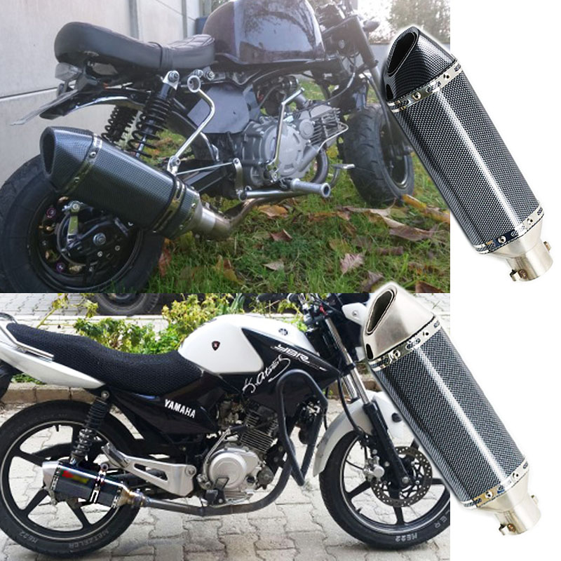 51MM Universal Motorcycle Exhaust Pipe ATV Muffler Escape Moto GP DIRT BIKE SCOOTER With DB Killer Silencer ER6N CRF 230 AK156