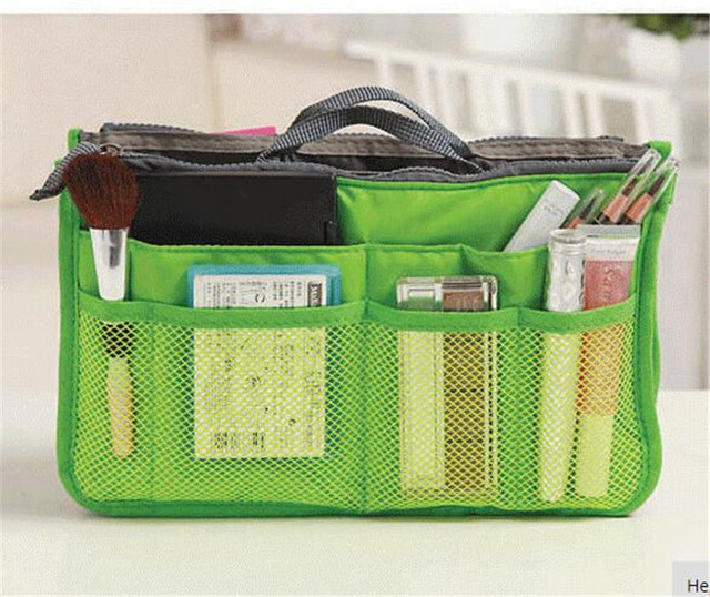 Portable Double Zipper Cosmetic Bag Multi-functional Toiletries Finishing Bags In The Package Storage Pouch