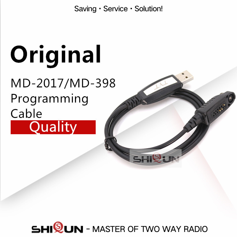 USB Programming Cable For TYT MD-2017 MD-398 GPS MD 2017 Programming Cable Compatible RT82 RT83 RT87 V-2017 Windows XP/Win7/8/10