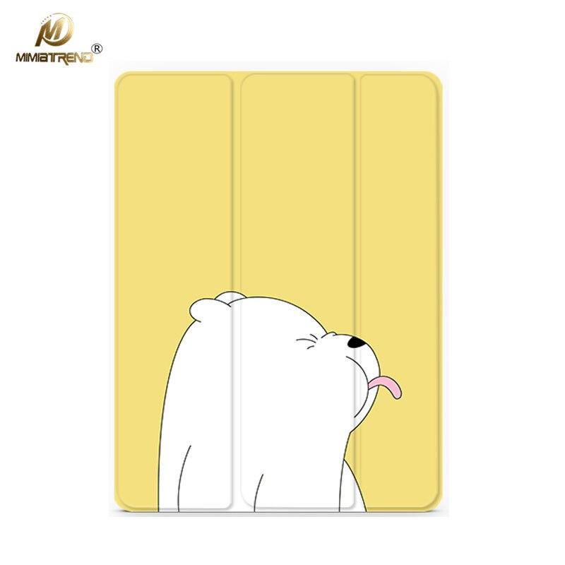 Mimiatrend Cartoon Cute Bear PU Case For IPad Pro 9 7 Air Air2 Mini 1 2