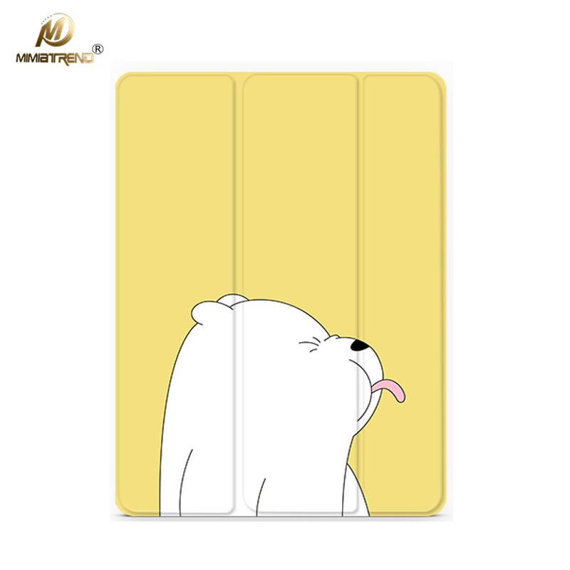 Mimiatrend Cartoon Cute Bear PU Case for iPad Pro 9.7 Air Air2 Mini 1 2 3 4 5 Tablet Case Shell + Screen Protector + Phone Case simple blue sky flip cover for ipad pro 9 7 10 5 air air2 mini 1 2 3 4 tablet case protective shell for new ipad 9 7 2017 a1822