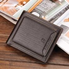 Baellerry Leather Vintage Wallet Men Credit Card Holder Purs