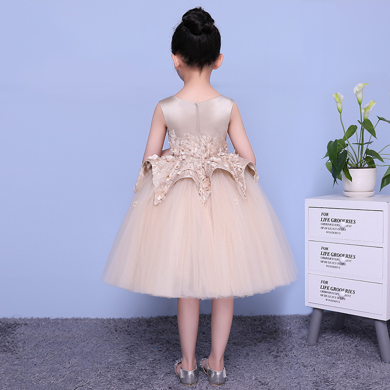 Luxury Holy Communion  Flower Girl  Evening Gowns Lace Ball Gown  Costume Dress