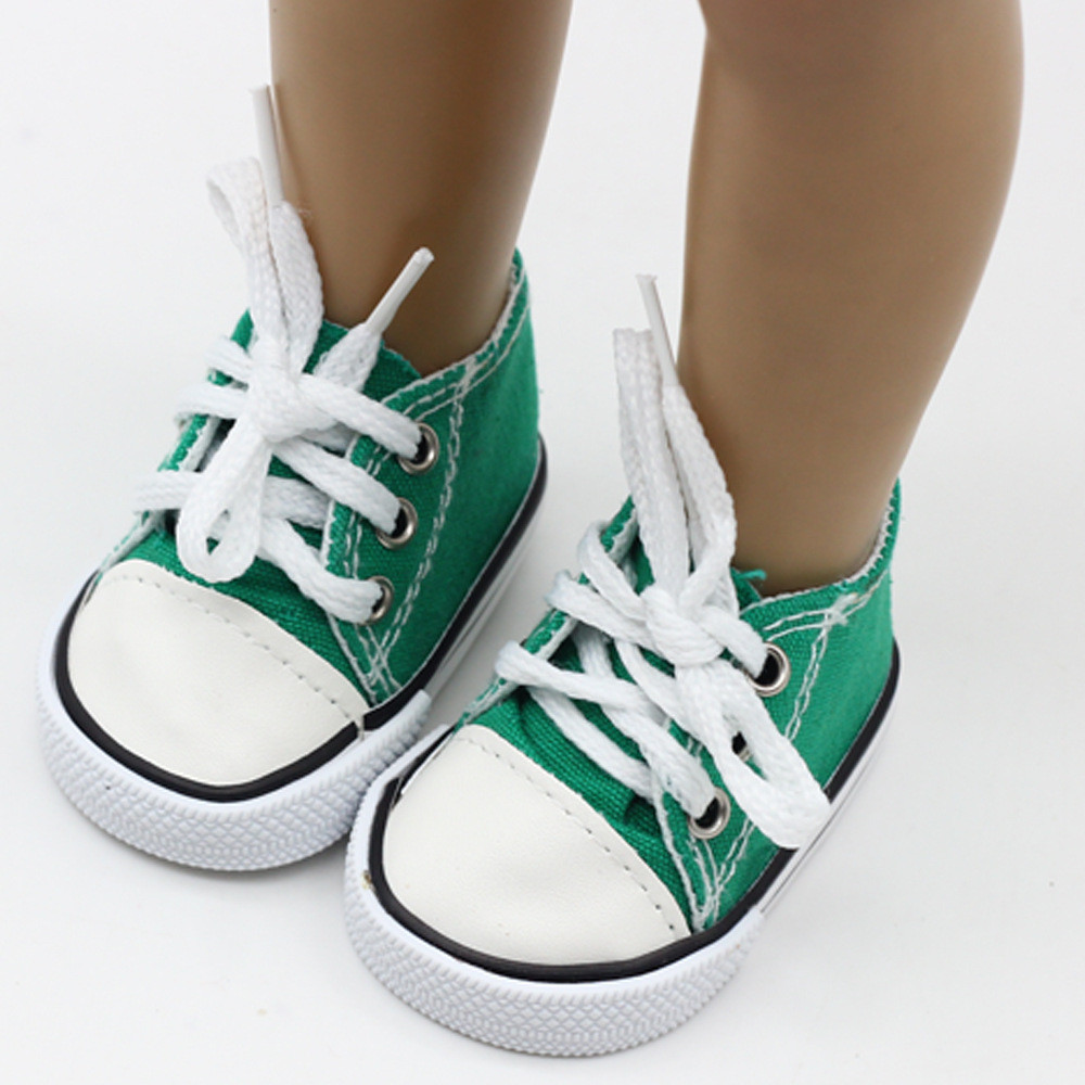 Baby Doll Cool Fashion Canvas Lace Up Sneakers Shoes For 18 Inch Girl Dolls Accessories Shoes& Boy Dolls Canvas Shoes